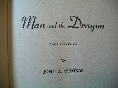 Man and the Dragon (John A. Widtsoe, 1945 1st Edition Hardcover)