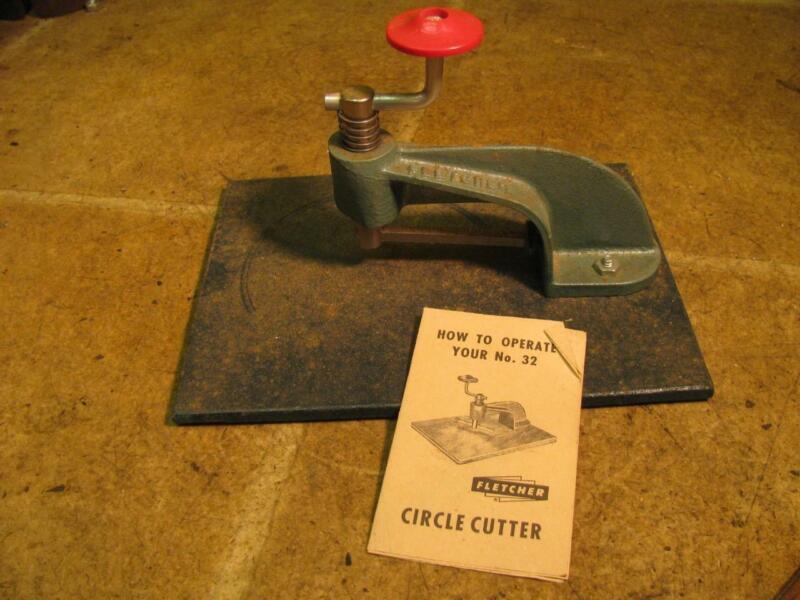 Fletcher Terry Co no 32 Circle Cutter Tool Glass