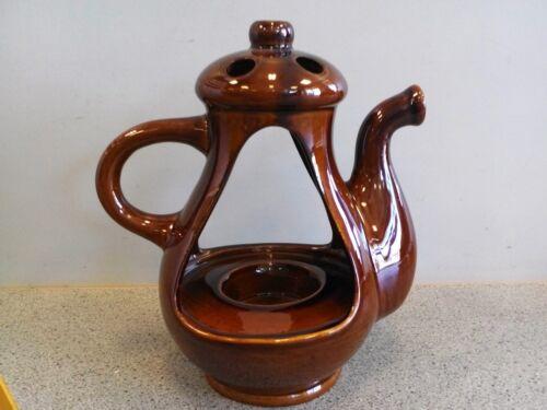 Teelichthalter Kaffeekanne in Braun Art 1236