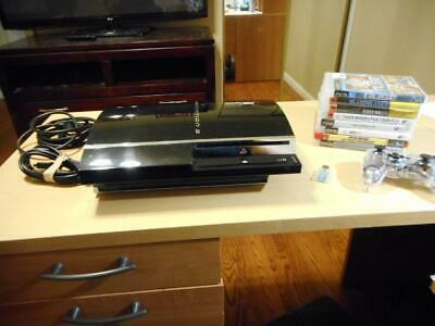 Sony PlayStation 3 PS3 60 GB Black CECHA01 Backward Compatible Console & 8 Games