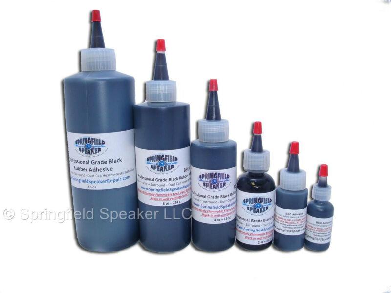 2oz Pro-Grade Black Rubberized Speaker Glue Adhesive - BSC2