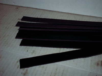 "Black Leather Smooth or Textured 12"" x 1"" or 3/4"" wide strips strap 6pc or 80""T"