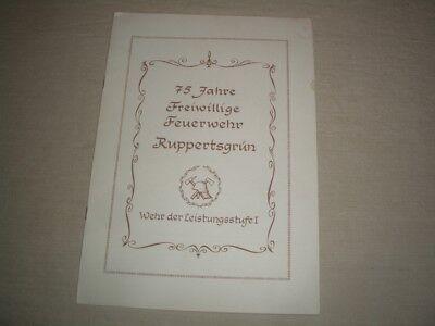 Ruppertsgrün - 75 Jahre Freiwillige Feuerwehr 1974 Festprogramm - Entwicklung