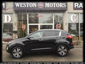 2012 Kia Sportage EX*LEATHER*PWR GRP*SUNROOF*NAVI*BTOOTH*REVERSE