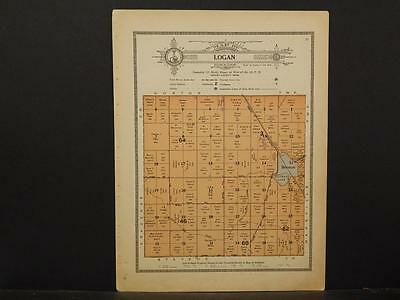 Minnesota, Grant County Map, 1914 Township of Logan Y1#06