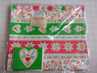 NOS Vintage 80's Current Christmas Gift Wrap & Cards Set Quilting Deer Snowman Christmas Gift Wrap Set