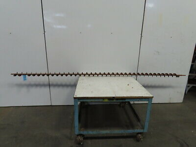 3-38 Diameter X 3-12 Pitch X 137 Long Carbon Steel Conveyor Auger Screw