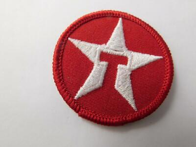 TEXACO OIL GAS SERVICE STATION VINTAGE RED STAR HAT PATCH BADGE UNIFORM