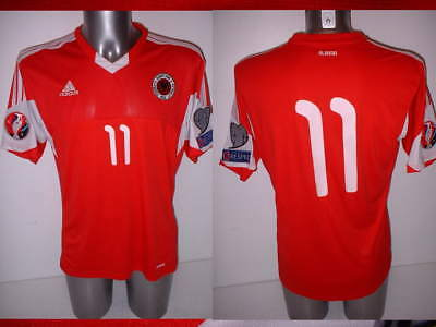 Albania Adult XL Match 11 Shirt Jersey Player Adidas Soccer Trikot Euro 2016 Top image