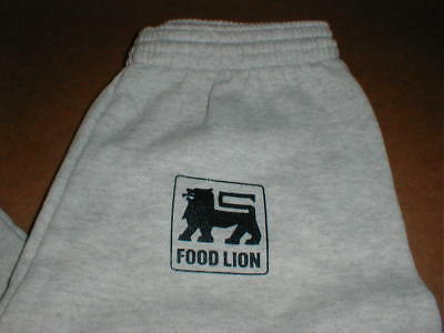 Food Lion Store Nos Retro New Adult Small Med Jogging Sweat Pants Gray Rare