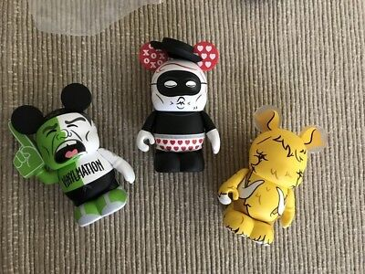 Disney Vinylmation URBAN REDUX series 2 #2collectible NEW chaser rare XOXO 3 pcs