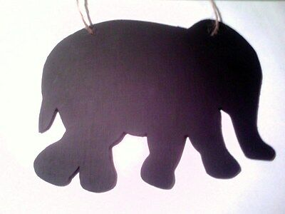 ELEPHANT SHAPE chalkboard wall plaque Christmas birthday gift idea zoo animal](Chalkboard Ideas)