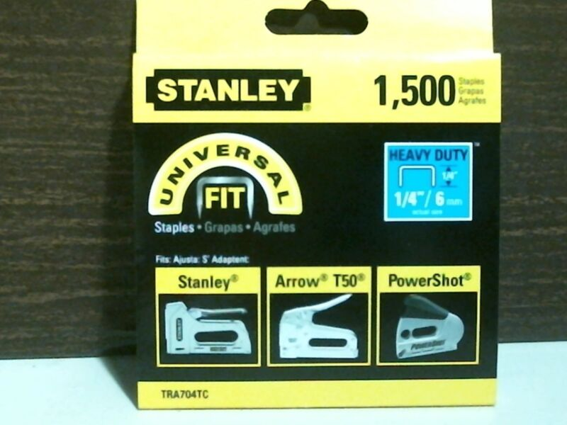 "Stanley TRA704TC Universal Fit Staples 1/4""/6mm 1,500 Staples, FREE SHIPPING"