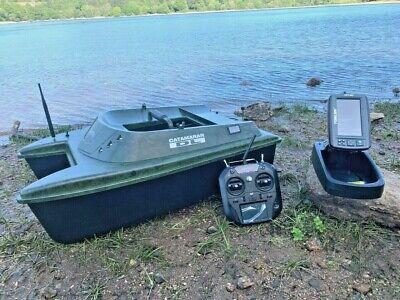 Anatec Catamaran Bait Boat + Toslon TF740 Feature Finder / GPS Auto Drive