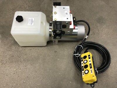 Buchermonarch 4 Way Hydraulic Pump Wremote 12 Volt Heavy Duty 3000 Psi