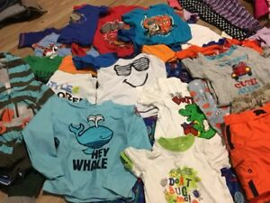 WOMANS CHILDREN AND BABY CLOTHING LOT.