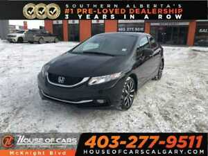 2015 Honda Civic Touring / Leather / Sunroof / Navi / Back Up Ca