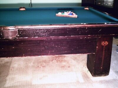 9 Ft Antique Brunswick Pool Table