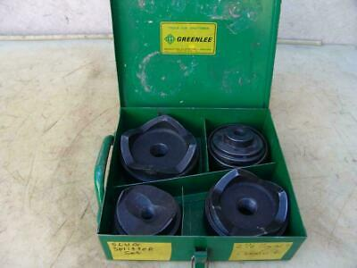 Greenlee Knock Out Punch And Die Set 2 12 To 4 Inch Nice Shape