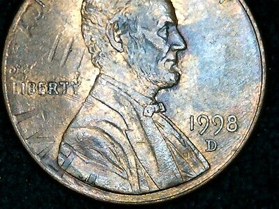 Click now to see the BUY IT NOW Price! 1998D LINCOLN CENT WITH DIE CLASH ON THE OBVERSE SIDE