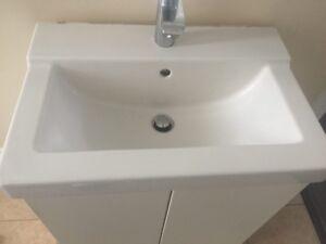 Ikea White Vanity Cabinet and Fixture