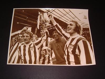 STOKE CITY FC 1972 FINAL GORDON BANKS GEORGE EASTHAM JIMMY GREENHOFF PRESS PHOTO