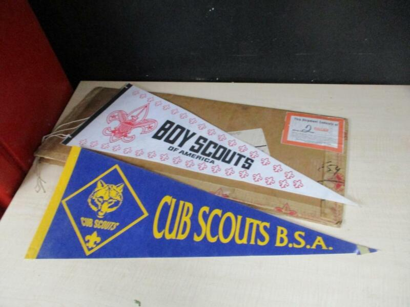 VINTAGE BOY SCOUT AND CUB SCOUT FELT PENNANTS BSA - Exc Cond