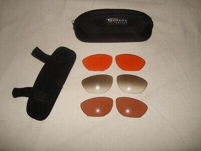 SERFAS OPTICS FORCE 5 100%  UV 3-LENSES SET W/ CASE NO (Uv3 Sun Glasses)