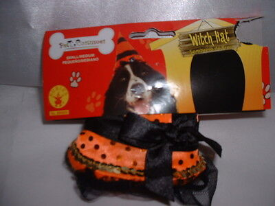 1 piece Dog Pet WITCH HAT For Halloween Costume Small/Medium S-M Small Medium](Medium Dog Costumes For Halloween)