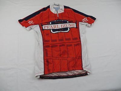 437175d49 Great Pearl Izumi Mens Sweet Red Since 1950 Logo Bike Cycling Jersey Sz  Small