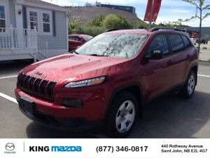 2016 Jeep Cherokee Sport- $199 B/W LOW KMS...V6...AWD..BLUETOOTH