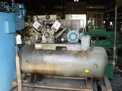 1993 10 Hp Industrial Air Machine Recriprocating Air Compressor 230460v 3ph