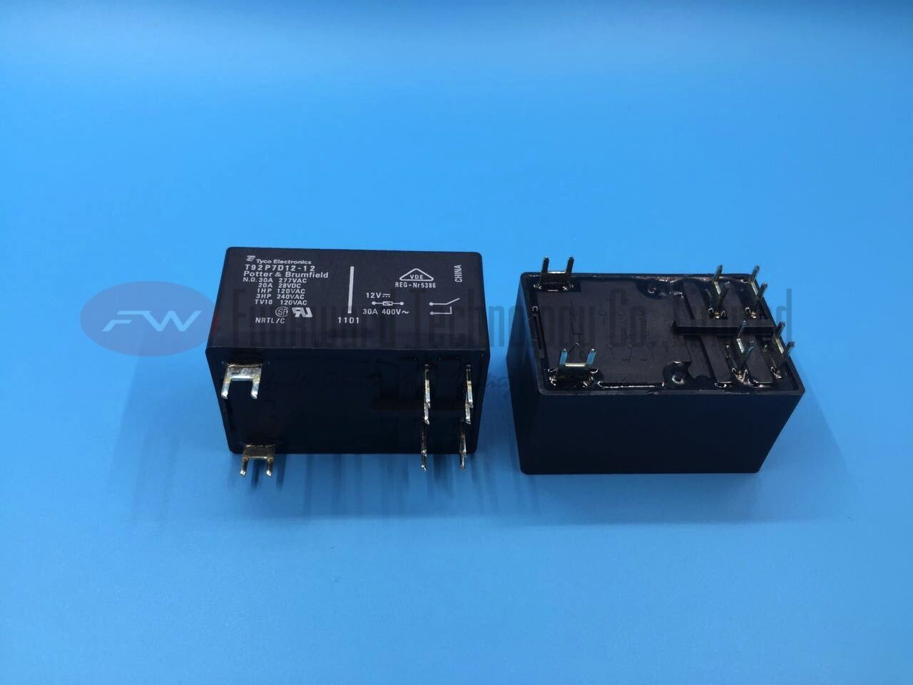 T92P7D12-12 Power Relay 30A 12VDC 6 Pins x 2pcs