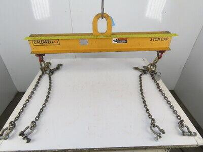 Caldwell Strong Bac 3 Ton Lifting Spreader Bar W 2 Leg 28 Sling Chains