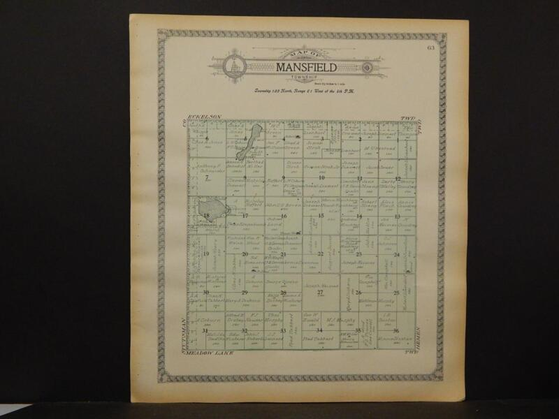 North Dakota, Barnes County Map, c1909, Mansfield Township, Y6#27