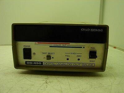 Ono Sokki Dg-450 Digital-analog Out Gauge Xlnt