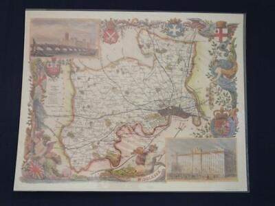 Reproduction Antique Map of Middlesex 16 x 20 inches.