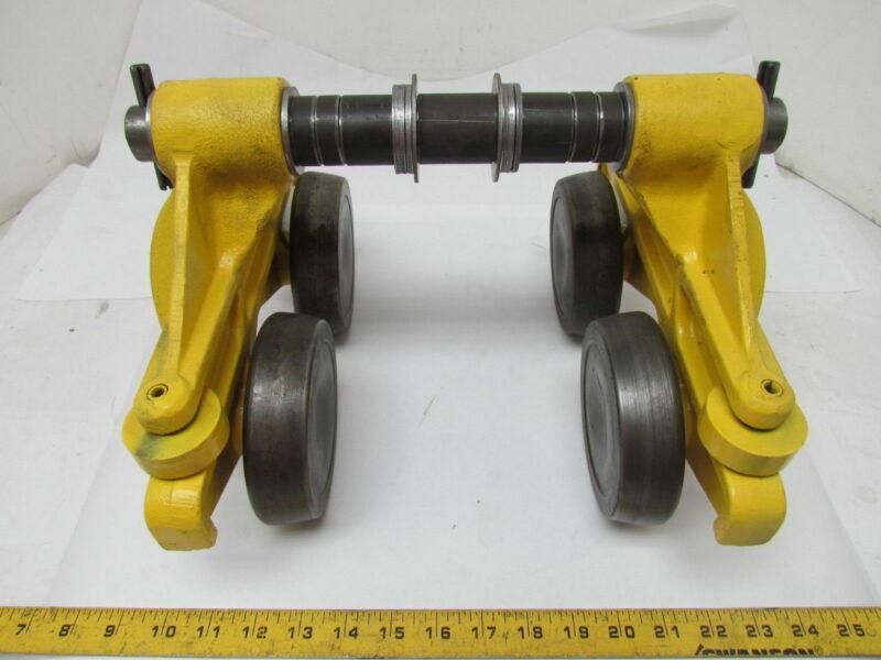 Jervis B Webb 2633 1 Ton Hand Push Hoist Conveyor Beam Trolley 2000 LB Capacity