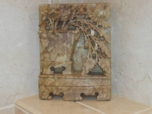 ANTIQUE CHINESE SOAPSTONE CARVED SCULPTURE