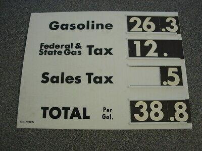 Vintage Gas Station Pump Price Sign Display Empro Slide Cards Visible Plastic  - Gas Station Sign Display