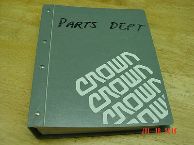 Crown Pe 3000 Series Electric Walkie  Master Service Parts Oem Manual Lqqk