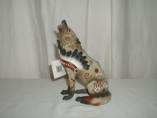 Call of the Wolf War Bonnet Figurine #14162 2009 Westland Giftware MIB