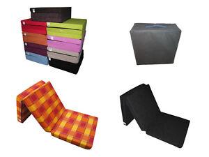 NOTBETT-GASTEBETT-SCHLAFSESSEL-KLAPPMATRATZE-Faltmatratze-Viele-Farben