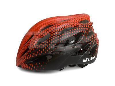 Casco Bici Bicicleta MTB Ciclismo Negro Rojo Adulto Talla M 55-58CM