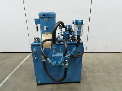 10 Hp 45 Gallon Hydraulic Power Unit 230460v 3 Ph Wvickers 1f13s11s 1cc30