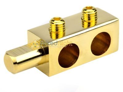 0 Gauge Audiopipe 24k Gold Power Distribution Block Car Audio Dual Amp Stereo