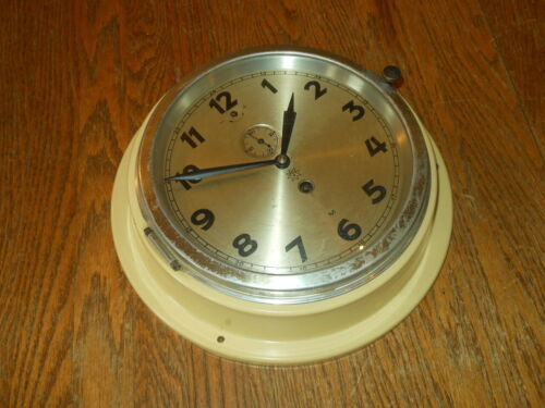 WW2 German Kriegsmarine Junghans - NAVY SHIP U-BOAT CLOCK - RARE COLOR!