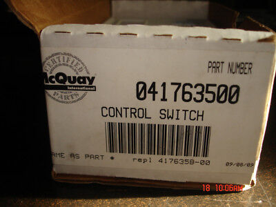 Mcquay Ranco Control Switch Pn 041763500 New In Packaging