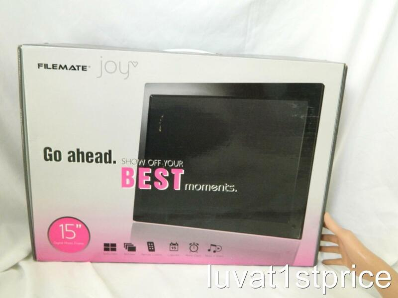FileMate Joy Series 15-Inch Digital Photo Frame with Alarm & Calendar NEW IN BOX