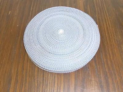 (0,20€/m) silbergraues Band/Borte 1,5cm breit 60m auf einer Rolle OPEW
